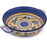 13-inch Stoneware Round Baker with Handles - Polmedia Polish Pottery H8403F