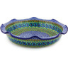 13-inch Stoneware Scalloped Bowl - Polmedia Polish Pottery H3844G