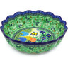 13-inch Stoneware Scalloped Bowl - Polmedia Polish Pottery H4535G