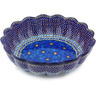 13-inch Stoneware Scalloped Bowl - Polmedia Polish Pottery H5965G