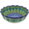 13-inch Stoneware Scalloped Bowl - Polmedia Polish Pottery H6304G
