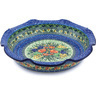 13-inch Stoneware Scalloped Bowl - Polmedia Polish Pottery H8652G