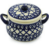13 oz Stoneware Bouillon Cup with Lid - Polmedia Polish Pottery H3030H