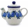 13 oz Stoneware Tea or Coffee Pot - Polmedia Polish Pottery H1092J
