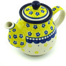 13 oz Stoneware Tea or Coffee Pot - Polmedia Polish Pottery H1337H