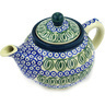 13 oz Stoneware Tea or Coffee Pot - Polmedia Polish Pottery H1546E