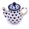 13 oz Stoneware Tea or Coffee Pot - Polmedia Polish Pottery H2553G