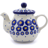 13 oz Stoneware Tea or Coffee Pot - Polmedia Polish Pottery H2860J