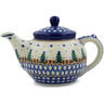 13 oz Stoneware Tea or Coffee Pot - Polmedia Polish Pottery H3654A
