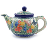 13 oz Stoneware Tea or Coffee Pot - Polmedia Polish Pottery H3875I