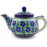 13 oz Stoneware Tea or Coffee Pot - Polmedia Polish Pottery H3878I