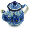 13 oz Stoneware Tea or Coffee Pot - Polmedia Polish Pottery H4622H