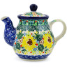 13 oz Stoneware Tea or Coffee Pot - Polmedia Polish Pottery H7302J
