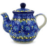 13 oz Stoneware Tea or Coffee Pot - Polmedia Polish Pottery H7303J