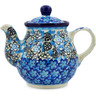 13 oz Stoneware Tea or Coffee Pot - Polmedia Polish Pottery H7307J