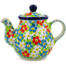 13 oz Stoneware Tea or Coffee Pot - Polmedia Polish Pottery H7308J