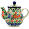 13 oz Stoneware Tea or Coffee Pot - Polmedia Polish Pottery H7312J