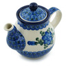 13 oz Stoneware Tea or Coffee Pot - Polmedia Polish Pottery H7402B