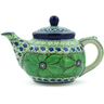 13 oz Stoneware Tea or Coffee Pot - Polmedia Polish Pottery H8548I