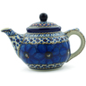 13 oz Stoneware Tea or Coffee Pot - Polmedia Polish Pottery H8549I