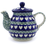 13 oz Stoneware Tea or Coffee Pot - Polmedia Polish Pottery H8575I