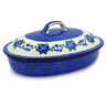 14-inch Stoneware Baker with Cover - Polmedia Polish Pottery H0094F