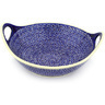 14-inch Stoneware Bowl with Handles - Polmedia Polish Pottery H0939D