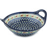 14-inch Stoneware Bowl with Handles - Polmedia Polish Pottery H4215I