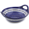 14-inch Stoneware Bowl with Handles - Polmedia Polish Pottery H4217C