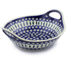 14-inch Stoneware Bowl with Handles - Polmedia Polish Pottery H4831C