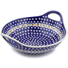 14-inch Stoneware Bowl with Handles - Polmedia Polish Pottery H5936I