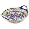 14-inch Stoneware Bowl with Handles - Polmedia Polish Pottery H7148D
