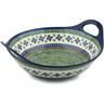 14-inch Stoneware Bowl with Handles - Polmedia Polish Pottery H7433C