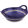 14-inch Stoneware Bowl with Handles - Polmedia Polish Pottery H8223G