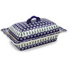 14-inch Stoneware Dish with Cover - Polmedia Polish Pottery H1397G