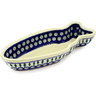14-inch Stoneware Fish Shaped Platter - Polmedia Polish Pottery H1049E