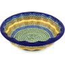 14-inch Stoneware Fluted Bowl - Polmedia Polish Pottery H2439D