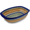 14-inch Stoneware Oval Baker with Handles - Polmedia Polish Pottery H0161D