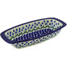 14-inch Stoneware Oval Baker with Handles - Polmedia Polish Pottery H2451E