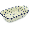 14-inch Stoneware Rectangular Baker with Handles - Polmedia Polish Pottery H1871H