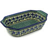 14-inch Stoneware Rectangular Baker with Handles - Polmedia Polish Pottery H2256D