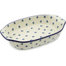 14-inch Stoneware Rectangular Baker with Handles - Polmedia Polish Pottery H2605B