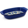 14-inch Stoneware Rectangular Baker with Handles - Polmedia Polish Pottery H3084B