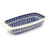 14-inch Stoneware Rectangular Baker with Handles - Polmedia Polish Pottery H3565D