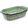 14-inch Stoneware Rectangular Baker with Handles - Polmedia Polish Pottery H4118F