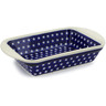 14-inch Stoneware Rectangular Baker with Handles - Polmedia Polish Pottery H4357J