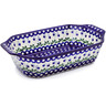 14-inch Stoneware Rectangular Baker with Handles - Polmedia Polish Pottery H4368B