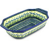 14-inch Stoneware Rectangular Baker with Handles - Polmedia Polish Pottery H4426D