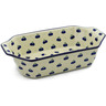 14-inch Stoneware Rectangular Baker with Handles - Polmedia Polish Pottery H5001A