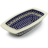 14-inch Stoneware Rectangular Baker with Handles - Polmedia Polish Pottery H5060C